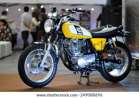 BANGKOK, THAILAND - January 29: The Yamaha 400 is on display during the 7th Bangkok Motorbike Festival on January 29, 2015 at Central World in Bangkok, Thailand.