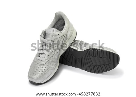BANGKOK, THAILAND - JUL 10: Onitsuka Tiger TIGER ALLIANCE Men's Shoes Sneakers TH6R3K FROM JAPAN isolated on white background, product shot on July 10, 2016 in Bangkok, Thailand