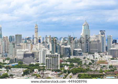Bangkok, Thailand - 7 July 2016 - Bangkok is a capital city in Thailand. The city occupies 1,568.7 square kilometres in Central Thailand, and has a population of over 8 million.