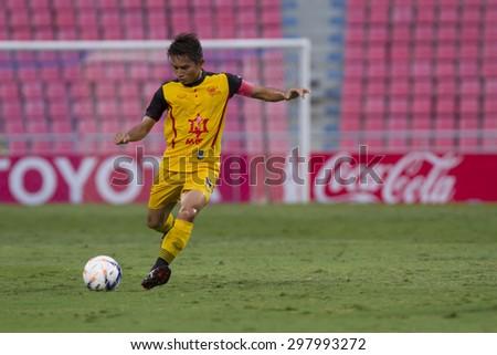 BANGKOK,THAILAND:JULY 2015:Jessada of Osotspa poses during football Thai Premier League between Osotspa M150 and Chiang Rai United at Rajamangala National Stadium on July 19,2015inThailand. - stock photo