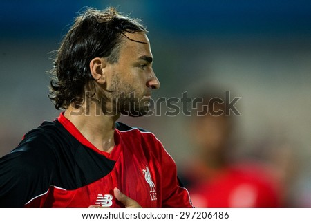 BANGKOK THAILAND JULY 14:Lazar Markovic of Liverpool in action during the international friendly match Thai All Stars and Liverpool FC at Rajamangala Stadium on July14,2015 in,Thailand. - stock photo