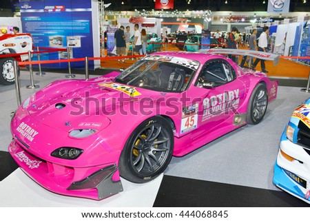 BANGKOK, THAILAND   JUNE 23 : Mazda RX 7 Modify For Racing Displayed In