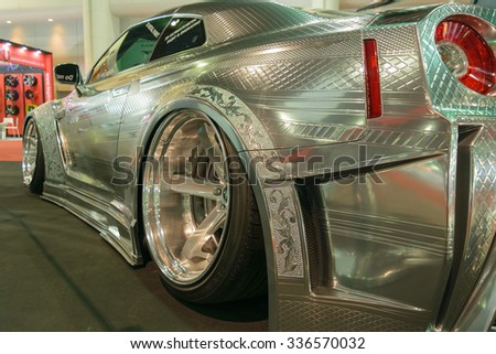 Bangkok, Thailand - June 27, 2015 : Nissan GT-R in Car show event at Bangkok, Thailand.  - stock photo