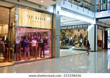 BANGKOK, THAILAND - JUNE 20, 2015: shopping center interior. Shopping centres such as Siam Paragon, Central World Plaza, Emperium, Gaysorn and Central Chidlom become shopping Mecca for shopaholics - stock photo