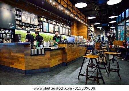 Bangkok Thailand June 21 2015 Starbucks Stock Foto 315589808 ...