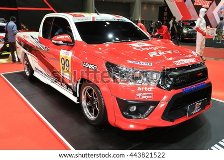 BANGKOK, THAILAND   JUNE 22 : Status Of Toyota Sport Car Decoration And  Modify For