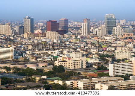 BANGKOK, THAILAND,  March 10, 2015 : The beautiful bangkok cityscape is capital of Thailand and the most populous city of Thailand