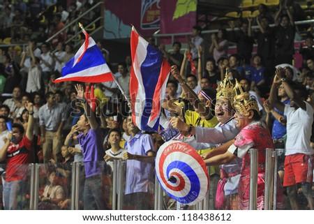BANGKOK, THAILAND - NOV 7 : Fan Club of Thailand in FIFA Futsal World Cup Group C match between Japan (B) and Libya (W) at Indoor Stadium Huamark on November 7, 2012 in Bangkok, Thailand. - stock photo