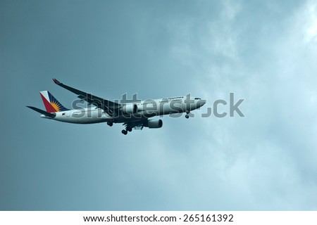 BANGKOK,THAILAND-SEP 27:Philippine Airlines Airbus A330 taking off on September 27,2006 at Don Mueang International Airport ,Bangkok ,Thailand