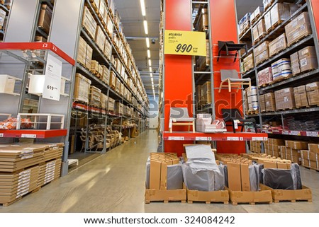 BANGKOK, THAILAND - SEPTEMBER 26, 2015, IKEA furniture store in Mega Bangna. IKEA, founded in Sweden in 1943, opened the 1st store in Thailand on Nov 3, 2012. - stock photo