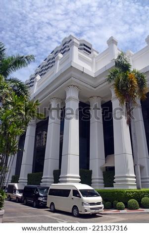 Bangkok, Thailand - September 23, 2014: Luxury Erawan Grand Hyatt Hotel Entrance, Bangkok Thailand. - stock photo