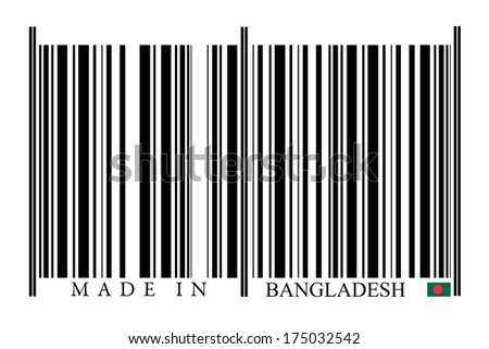 Bangladesh Barcode on white background