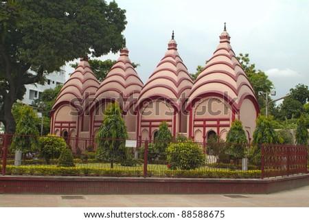 Bangladesh, Dhakeswari Temple in Dhaka - stock photo
