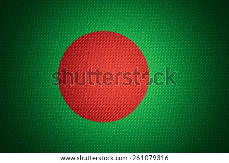 Bangladesh flag or banner on abstract texture - stock photo