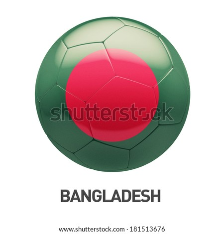 Bangladesh Flag Soccer Icon isolated on white background - stock photo