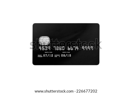 bank card on a white background - stock photo