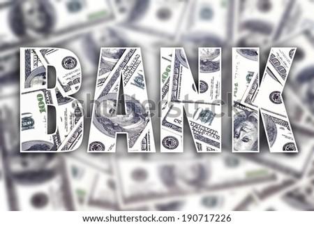 Bank dollars creative conceptual illustration - stock photo