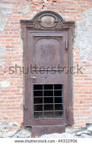 Bank Door- Bodie, California - stock photo