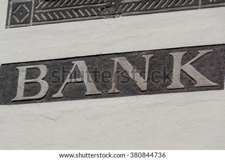 Bank frontage