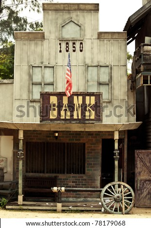 Bank in Wild West style - stock photo