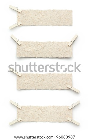 Bank mulberry paper label - stock photo