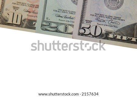 Bank notes border with room for text