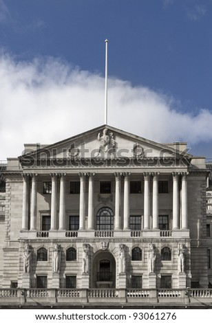 Bank of England in London UK