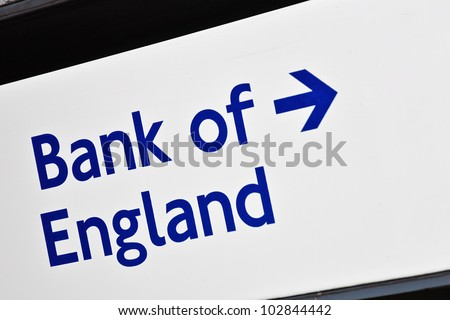 Bank of England road signal. - stock photo