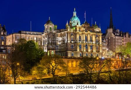 Bank of Scotland building in Edinburgh - stock photo