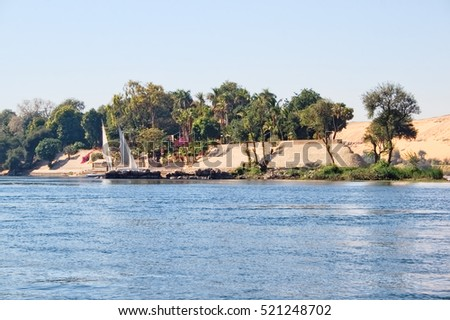 Bank of the Nile River, Egypt