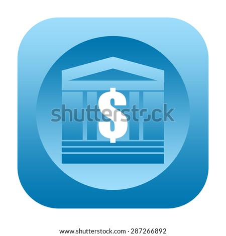 Bank or luxury real estate icon with dollar symbol - stock photo