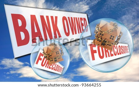 Bank Owned and Foreclosed Homes. - stock photo