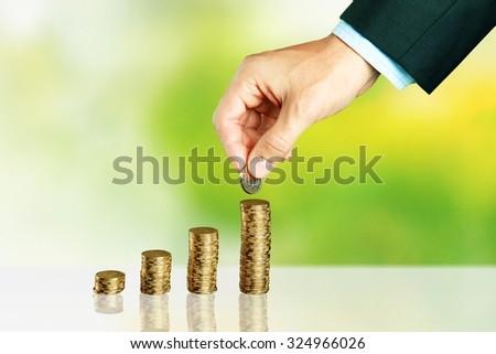 Bank profit. - stock photo