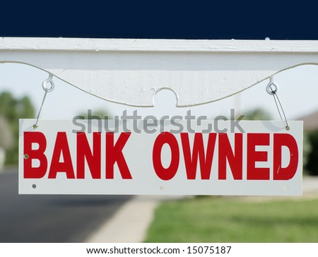 Bank repo open house sign board - stock photo