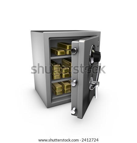 bank safe, with gold. check my portfolio for variations.