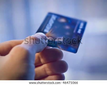 Banking card - stock photo