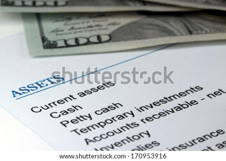 Banking cash flow statement - stock photo