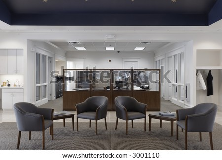 Banking Industry Office Lobby In One Point Perspective Part 97