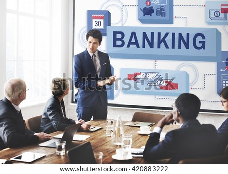 Banking Saving Money Management Account Concept - stock photo