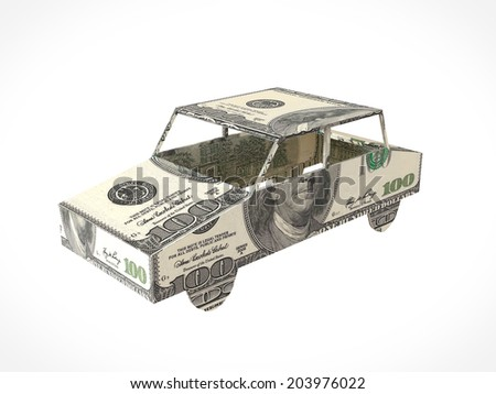 Banknote model house. Business concept. - stock photo