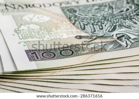 Banknote 100 PLN - stock photo