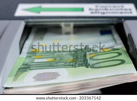 Banknotes counters - stock photo