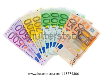banknotes of the european union. euro currency