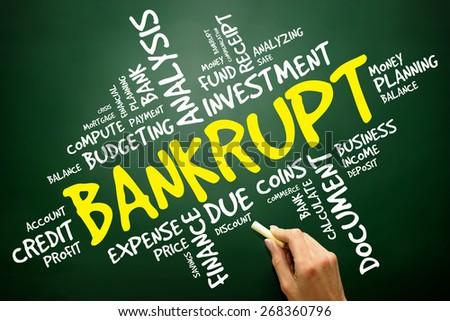 BANKRUPT word cloud, business concept - stock photo