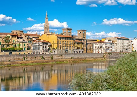 Banks of river Arno in Florence, Italy