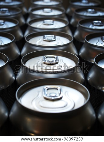 Banks with beer. Abstract composition - stock photo