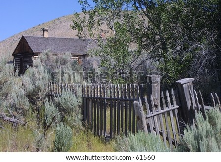 Bannack Gate to Home - stock photo