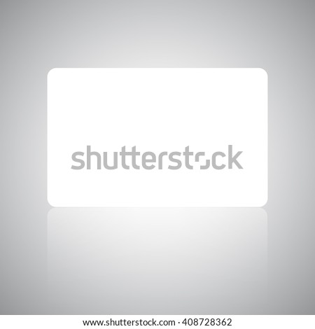 Banner, Gift card or credit card design template with soft shadows and highlights isolated on gray background.