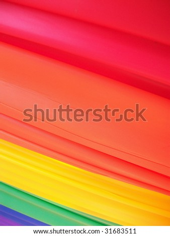 Banner hung along a fence for Gay Pride Week in Washington, DC. - stock photo