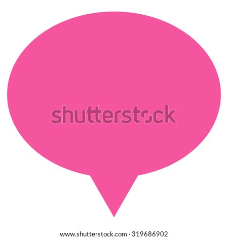 Banner icon from Primitive Set. This isolated flat symbol is drawn with pink color on a white background, angles are rounded.